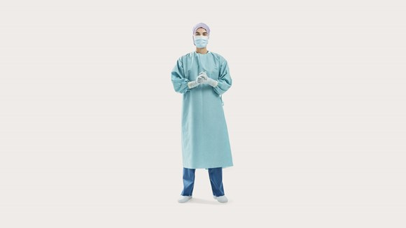Healthcare professional wearing BARRIER Surgical gowns